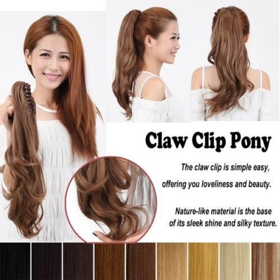 Claw Clip On Ponytail Thick Clip In Pony Tail Hair Extensions As Human Piece  UK Thick Pony Ponytail 33e1b4684