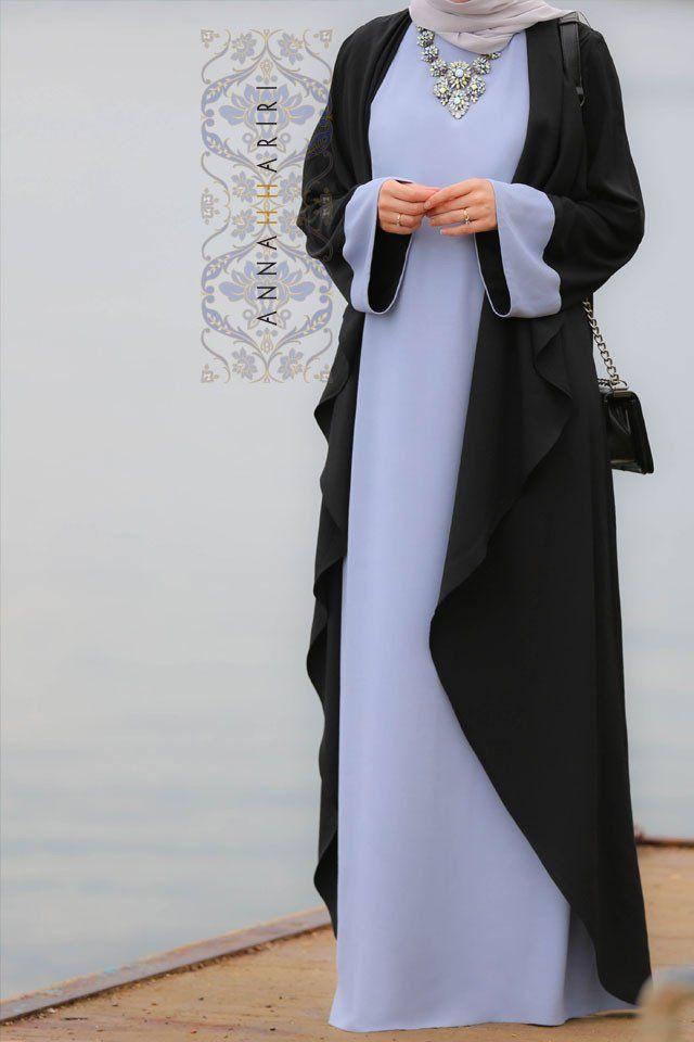 Abaya Dress Blue&Black
