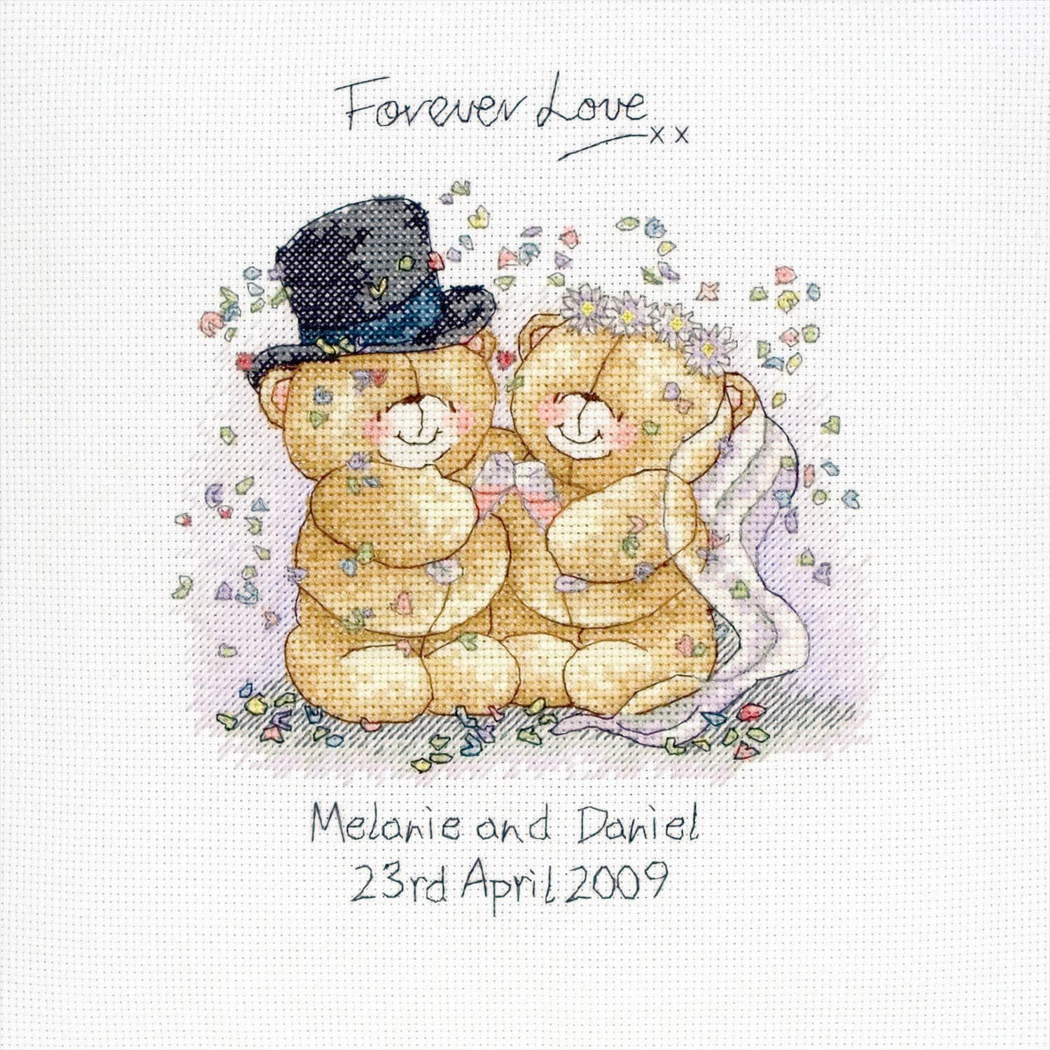 forever friends wedding cross stitch kit
