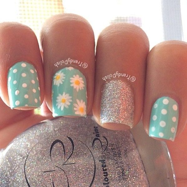 45 Easy Flower Nail Art Designs for Beginners | nail ideas ...