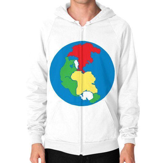 Earth 1 Pangea Peace Zip Hoodie