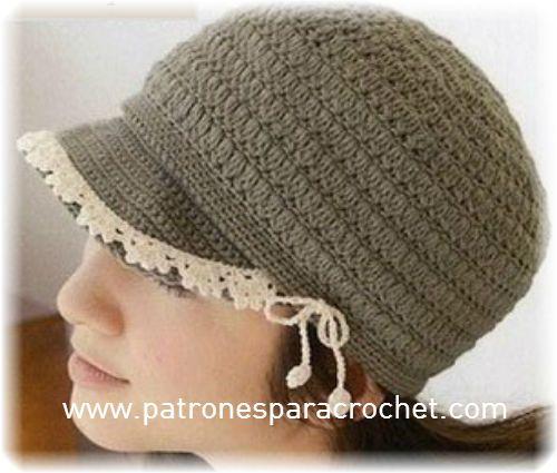 c51da93d6e3b1 7 Patrones de Sombreros muy femeninos para tejer al Crochet ~ Patrones para  Crochet