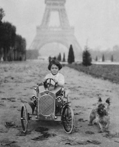Gloria Vanderbilt as a child in pre-WWII Paris.