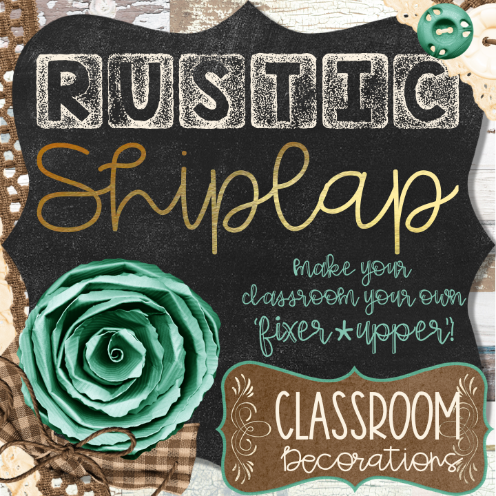 Rustic Shiplap Classroom Decor Editable #elementaryclassroomdecor
