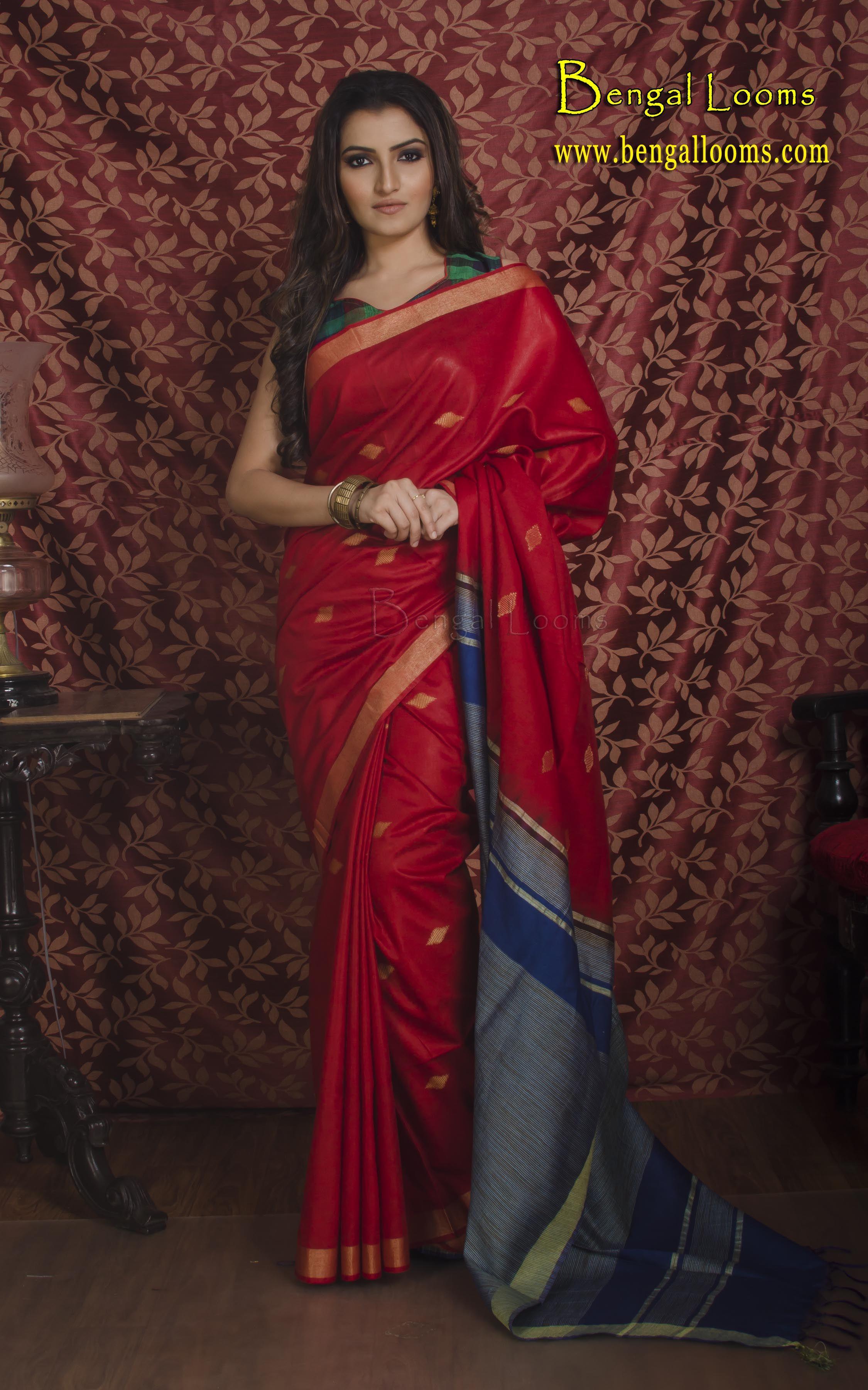 Pin by Bengal Looms on Khadi Sarees Khadi saree, Saree