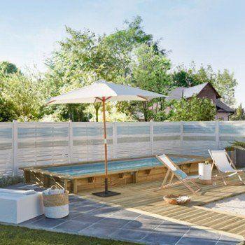 piscine hors sol bois urbaine l25 x l6 x h - Piscine Bois Leroy Merlin Hors Sol