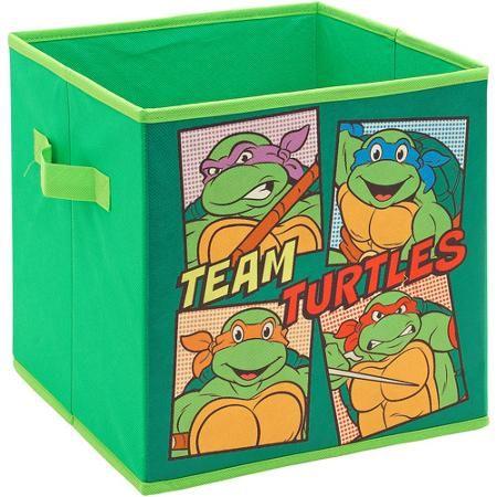 Teenage Mutant Ninja Turtles Retro Storage Cube Team Turtles Walmart Com Cube Storage Boys Bedroom Storage Ninja Turtle Toys