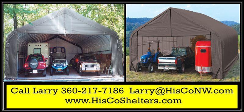 Shelter Logic Portable 3 Car Garage Peak Roof 30' wide