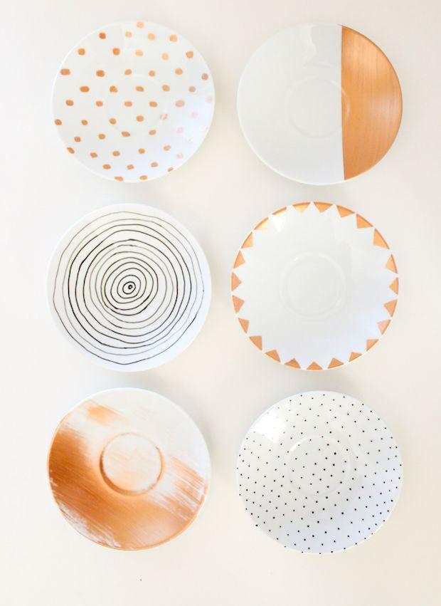 Diy Painted Dishes Tutorial Dishwasher Safe Paint Diy Ceramic Diy Pottery