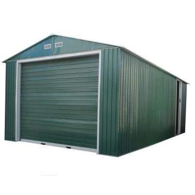 Duramax Building Products Imperial 12 Ft X 20 Ft X 6 9 Ft Green Metal Garage Without Floor 50961 The Home Depot Metal Garages Garage Design Metal Building Designs