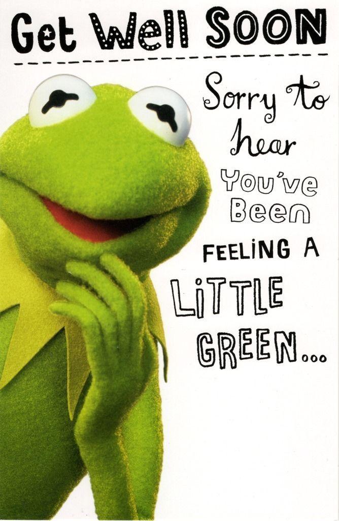 Kermit the frog get well soon card disney muppets greeting cards 329 gbp kermit the frog get well soon card disney muppets greeting cards ebay home garden m4hsunfo