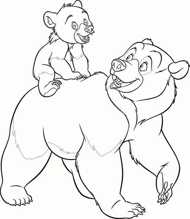 disneys bärenbrüder  malvorlagen tiere malvorlagen