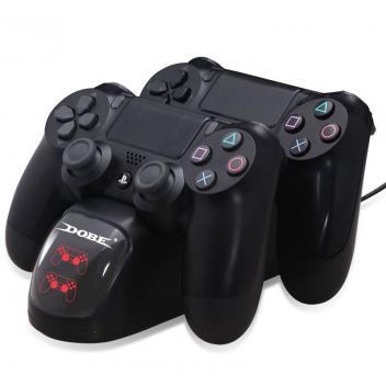 Carregador Duplo Sem Fio 2 Controles Playstation 4 Slim Pro Dobe Magazine Btfbrasil Docking Station Controle De Jogo Usb
