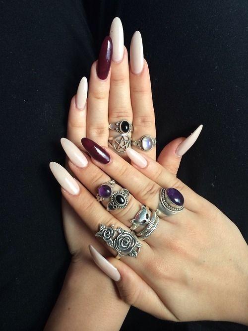 Almond Shaped Acrylic Nails Tumblr