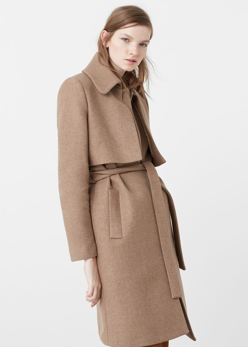 Belt wool coat | Wool, For women and Belt