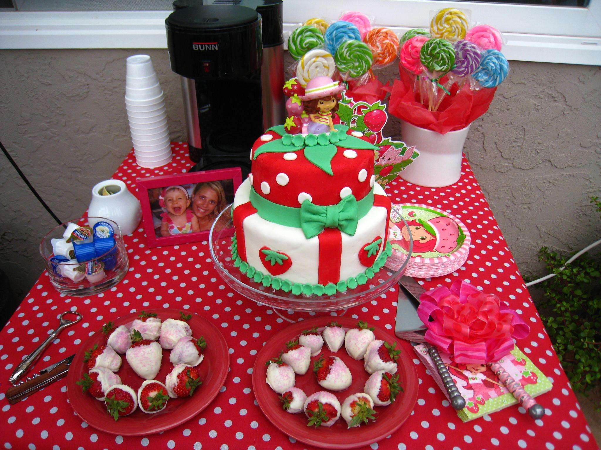 Strawberry Shortcake Theme Party | Little E\'s Kitchen by Ana ...
