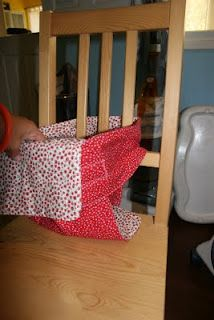 Wipe off high chair cushion tutorial | quilting sewing creating.