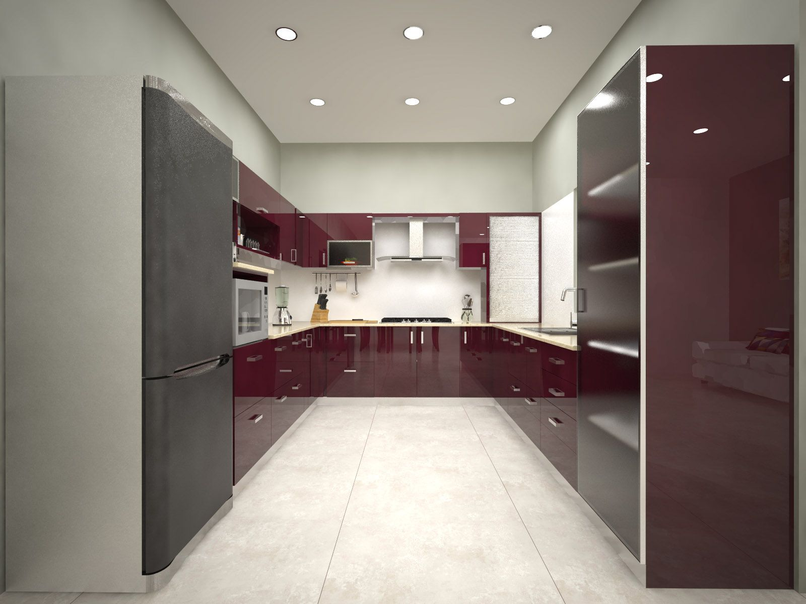visit our modular u shaped kitchens interior designers @ homelane