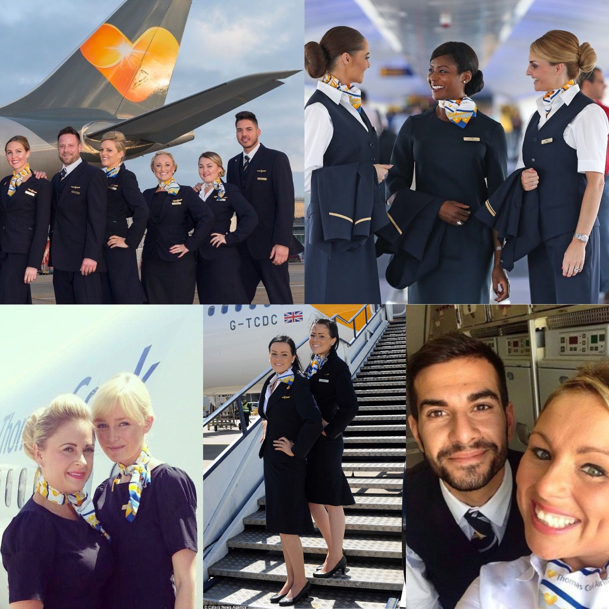 Dolliesoftheday Some Sunny Heart Thomas Cook Boys And Girls Flight Attendant Cabin Crew Fly Girl