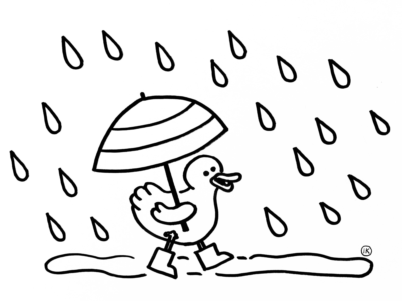 Kleurplaten Met Thema Regen Kleurplaat Regen Kleurplaat Eendje In De Regen 1028 Regen Kleurplaten Thema