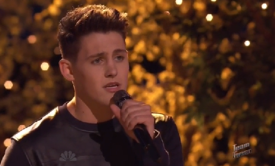 """Ryan Sill from Sterling, VA, performed his version of """"Open Arms"""" by Journey on The Voice Season 7 'Live Shows' Monday night, December 1, 2014."""