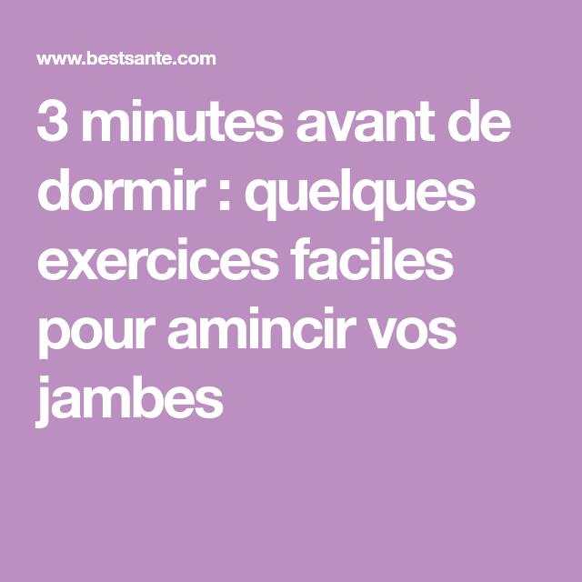 3 minutes avant de dormir : quelques exercices faciles ...