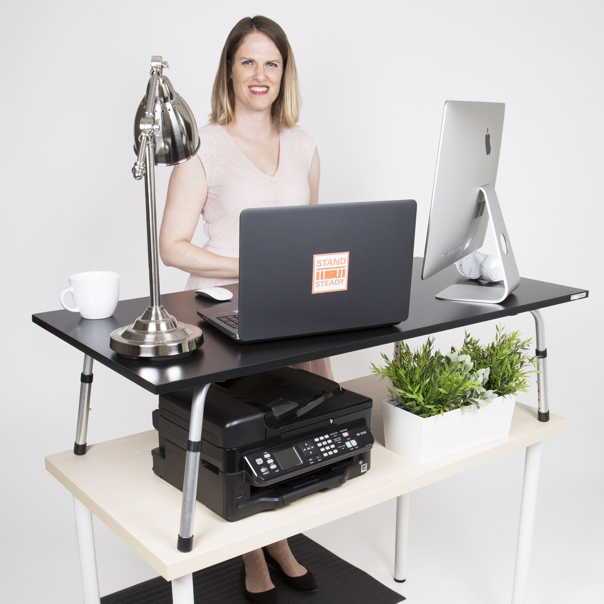 Mega stand steady standing desk converter xl products