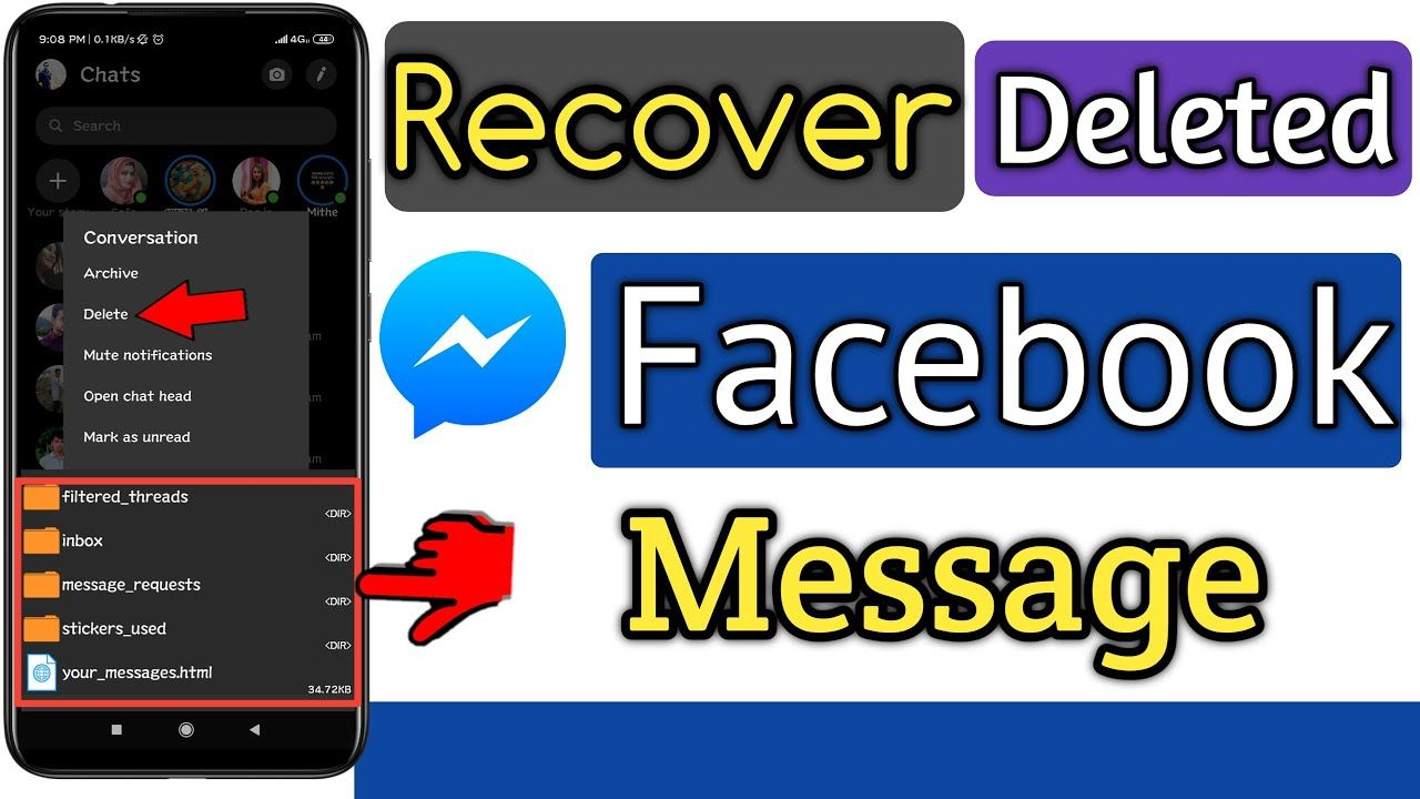 How To Get Deleted Messages Back On Facebook In 2020 Data Folder