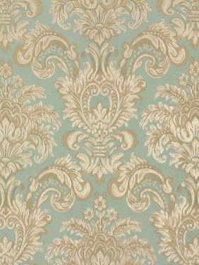 Tapete Rasch Textil Tradizionale 008036 Barock blau grün beige ...