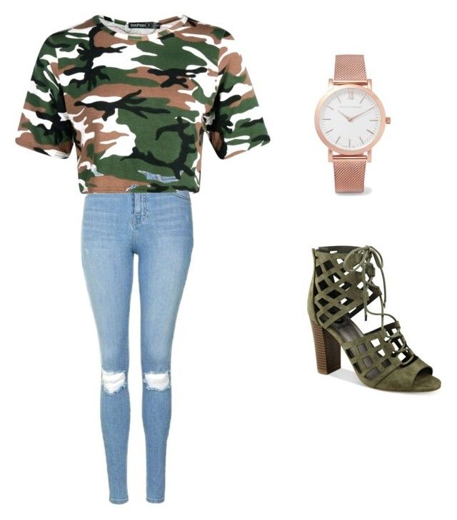 """""""freshman"""" by lashay4240 on Polyvore featuring Topshop, G by Guess and Larsson & Jennings"""