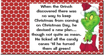 Grinch Candy Cane and Tag (Free Printable) from ...