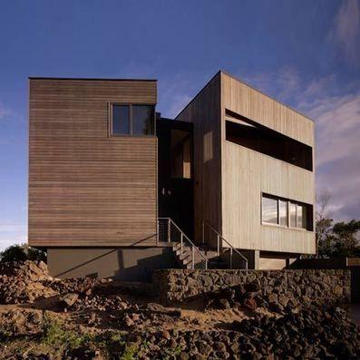 Maison bois contemporaine en front de mer sur la côte australienne