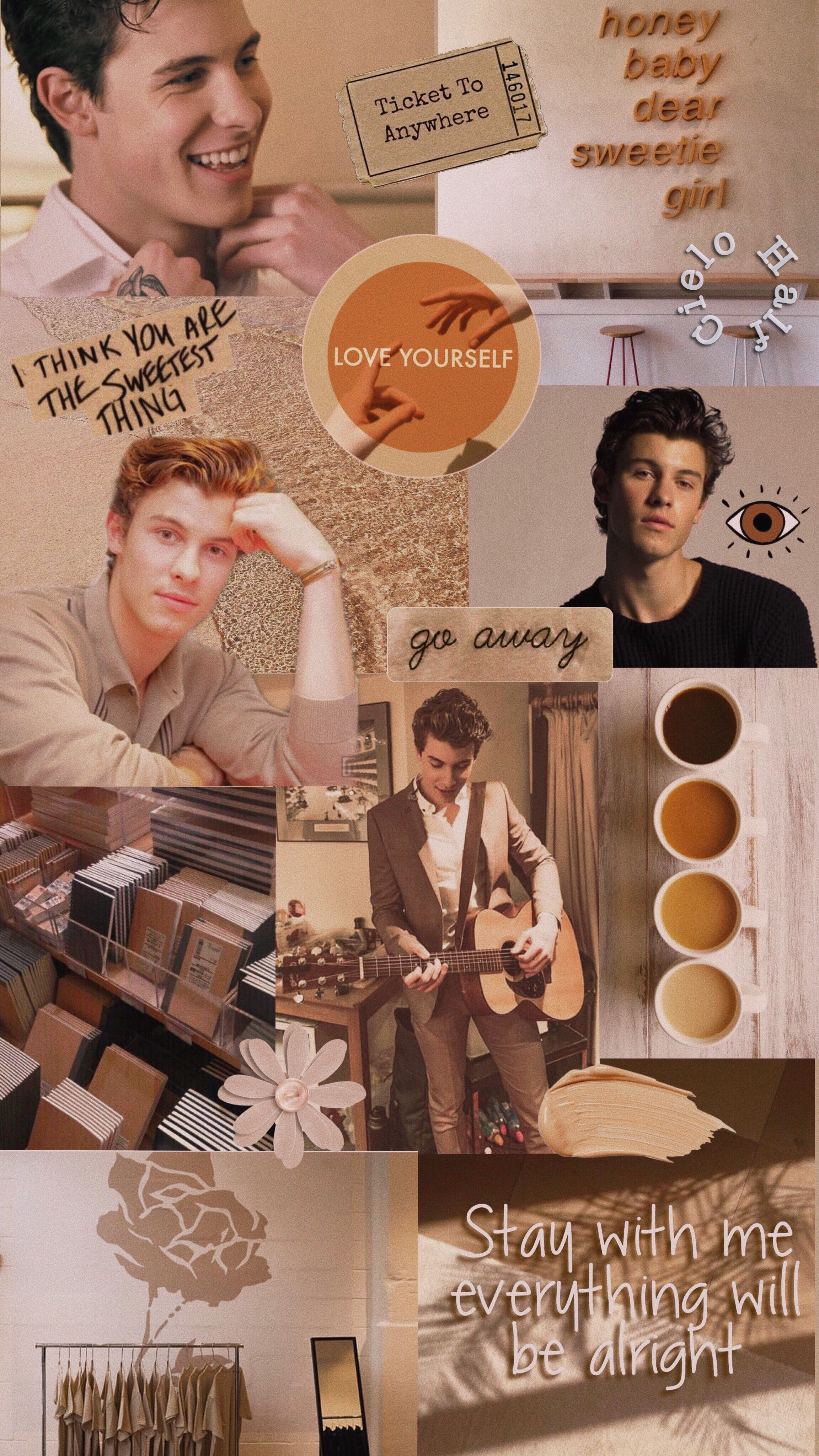 Shawn Mendes aesthetic wallpaper beige Shawn mendes