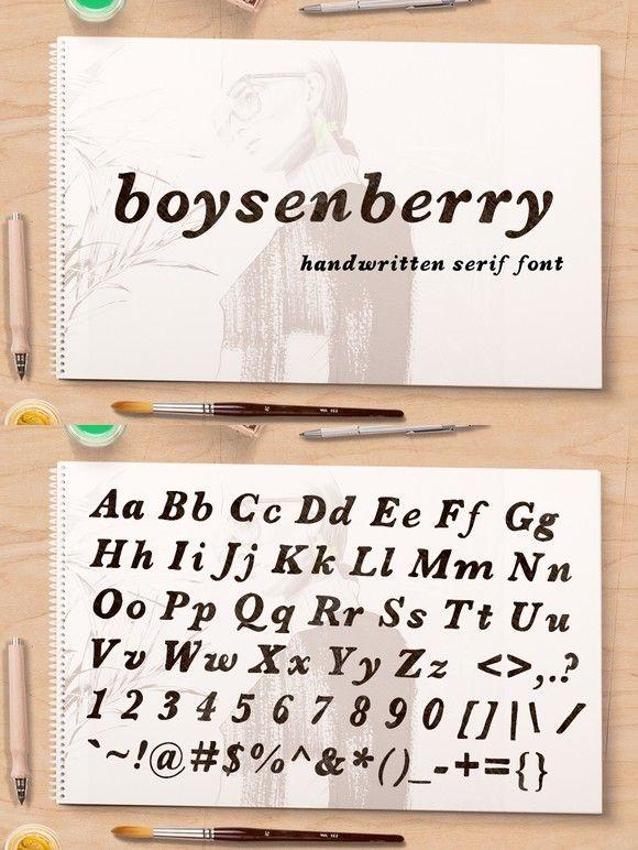 Boysenberry Serif Fonts Sans Serif Fonts Cool Fonts