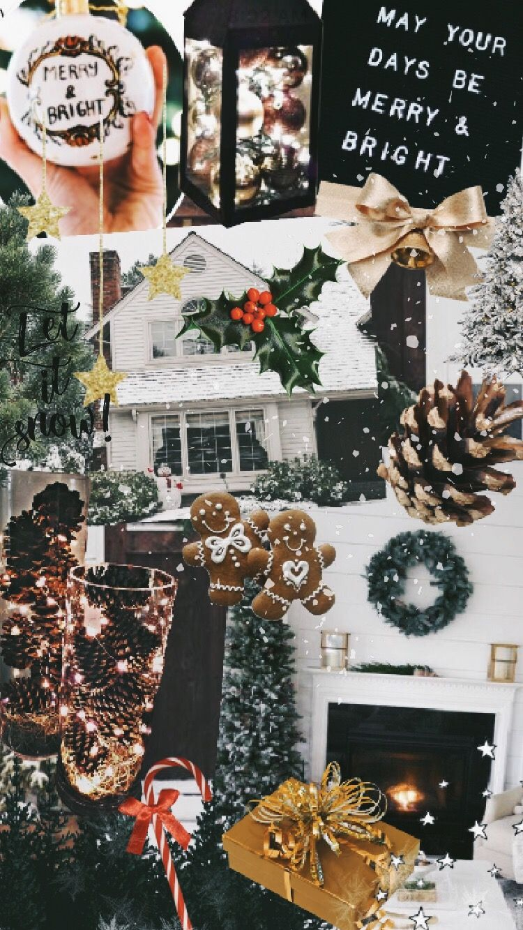 11+ Christmas Aesthetic Collage