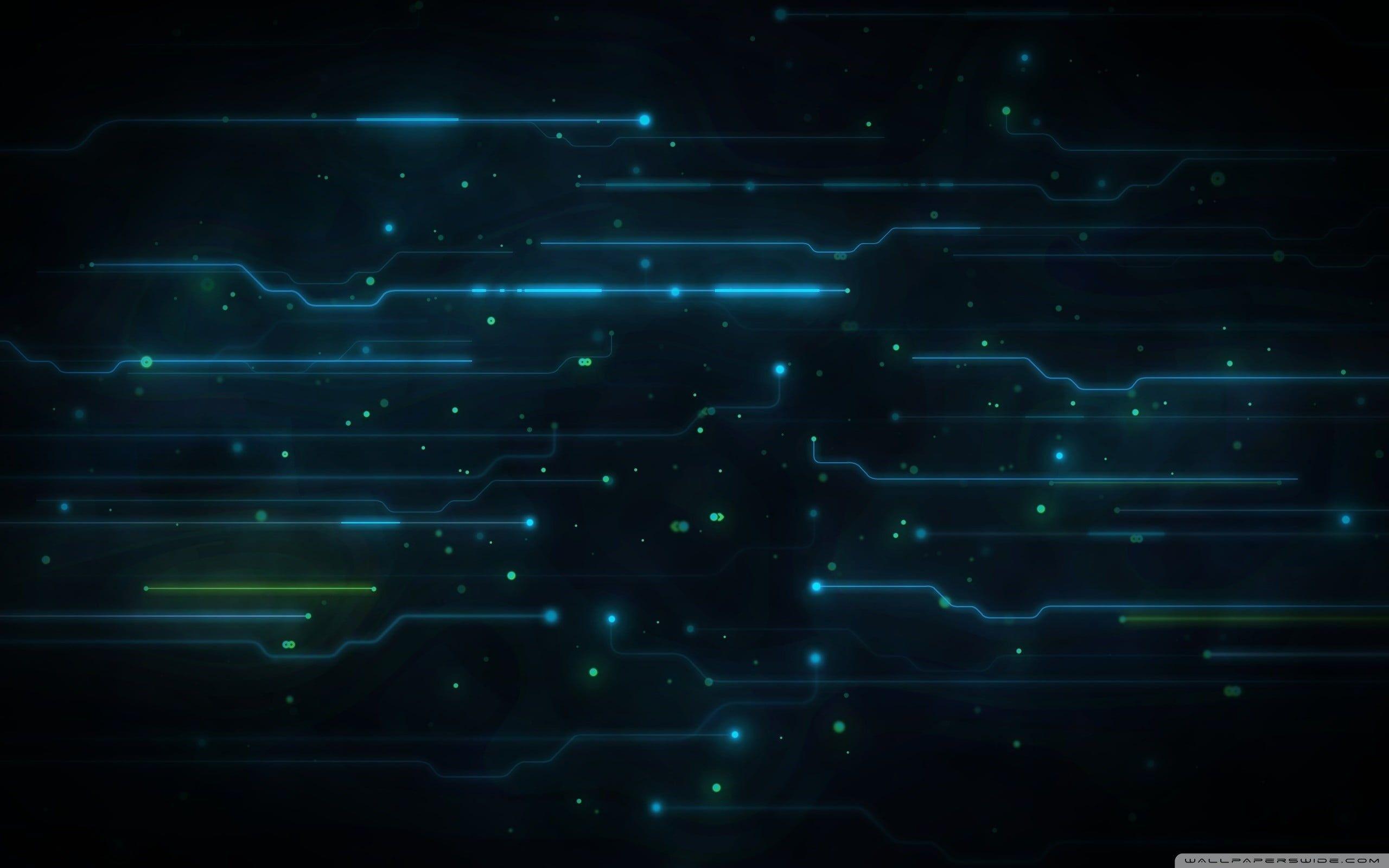 flat screen monitor #abstract digital art #blue dark blue Tron: Legacy #artwork … 4K