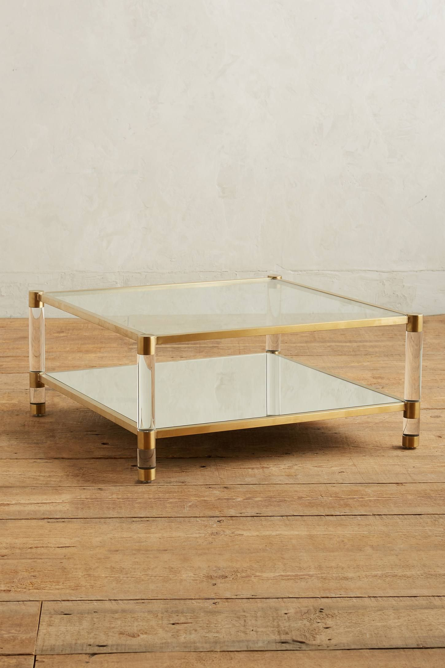 Slide View 1 Oscarine Lucite Mirrored Coffee Table Square Lucite Coffee Tables Mirrored Coffee Tables Coffee Table [ 2175 x 1450 Pixel ]