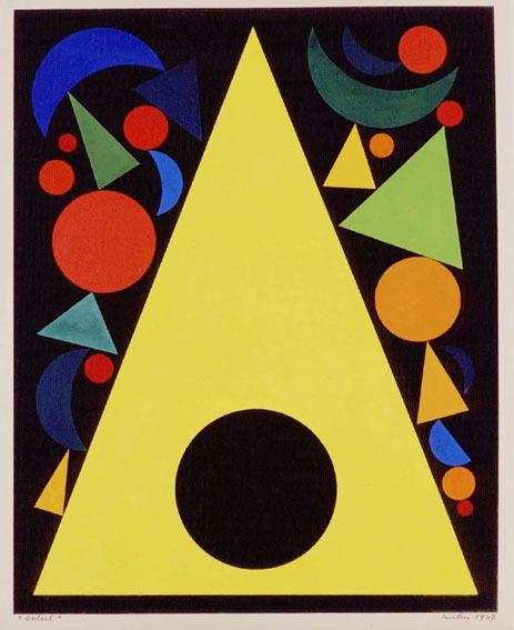C Est Pendant La Deuxieme Guerre Mondiale Alors Qu Auguste Herbin Est Tres Isole Suite A La Dissolution Du Epoque Geometrique Art Abstrait Art Et Mathematiques