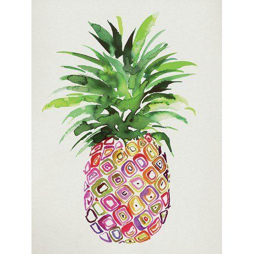 Leinwandbild Ananas Pineapple Painting Pineapple Art Canvas Art Prints