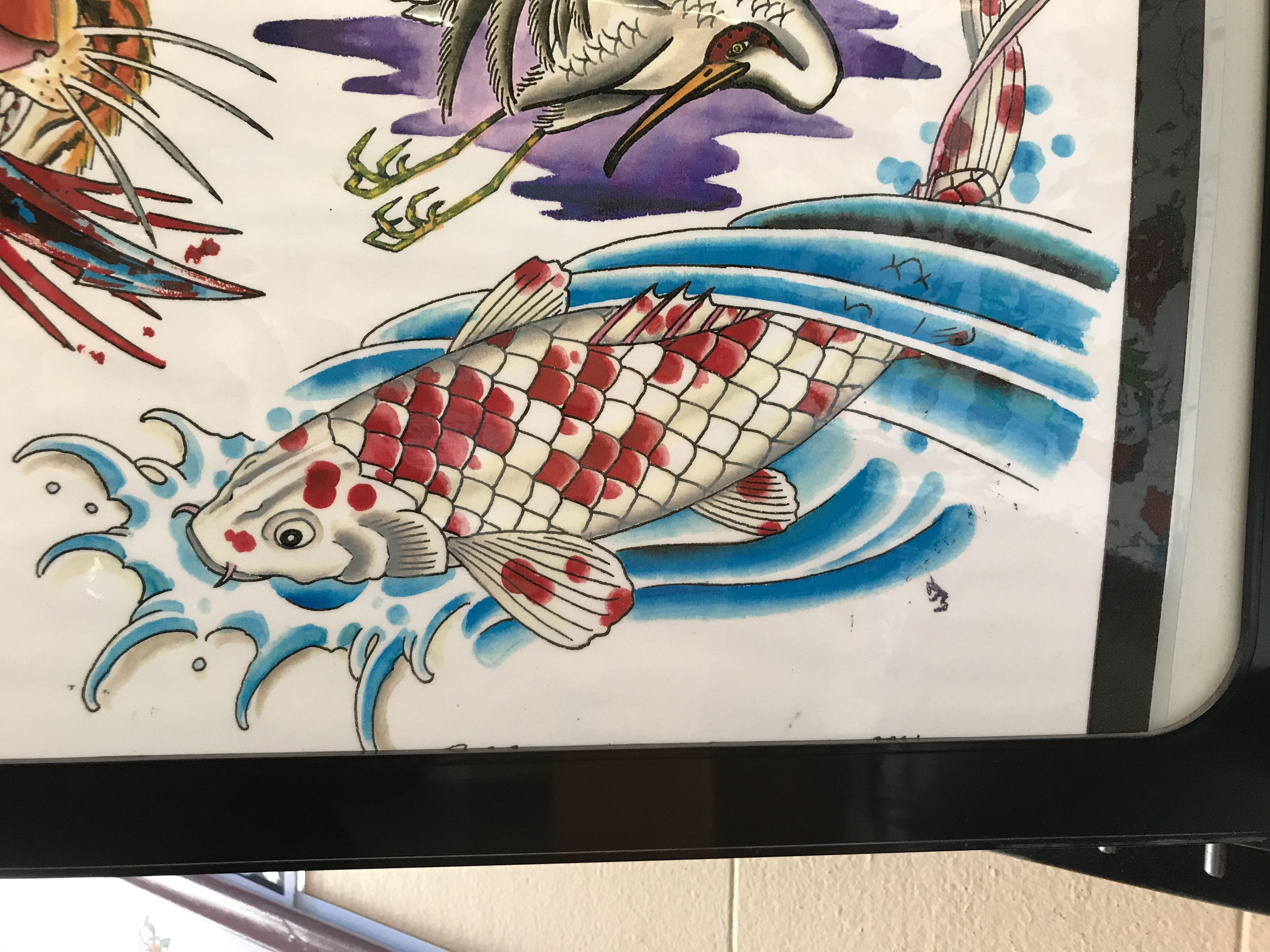 Koi fish flash at all saints tattoo in austin tx saint