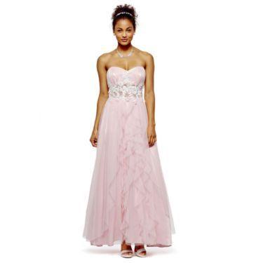 Roberta Strapless Applique Ball Gown - JCPenney | Light Pink ...