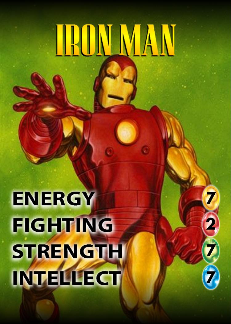 Iron Man OverPower Character card Card games, Iron man