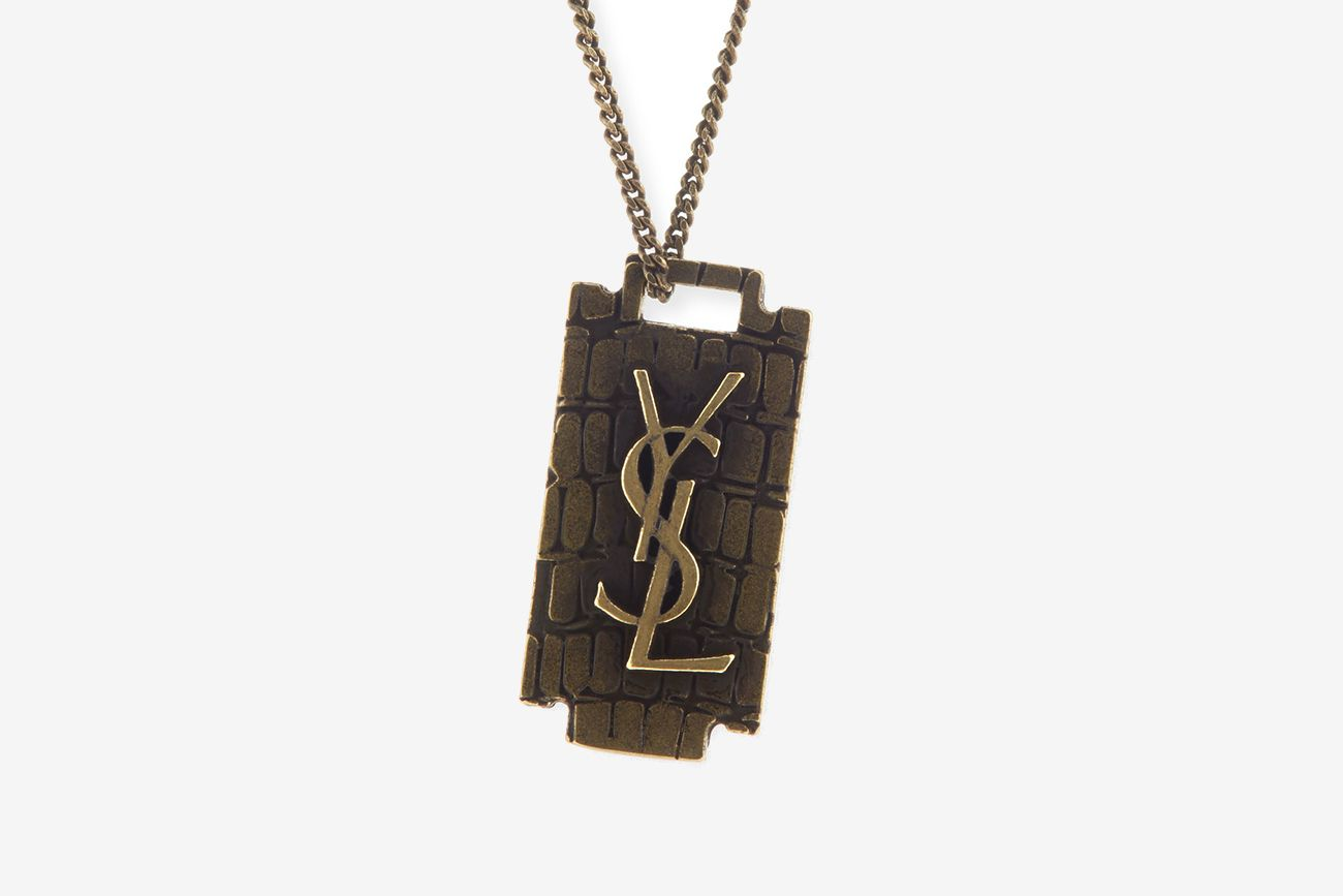 YSL Recently Unveiled Its New Razor BladeThemed Pendant Necklace
