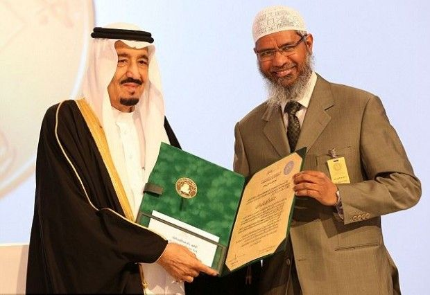 Saudi Arabia awards preacher who says Muslims can have sex with slaves £130,000 for services to Islam [/]Naik also says sex with animals is permitted, but the animal is the guilty party and must be killed[\]