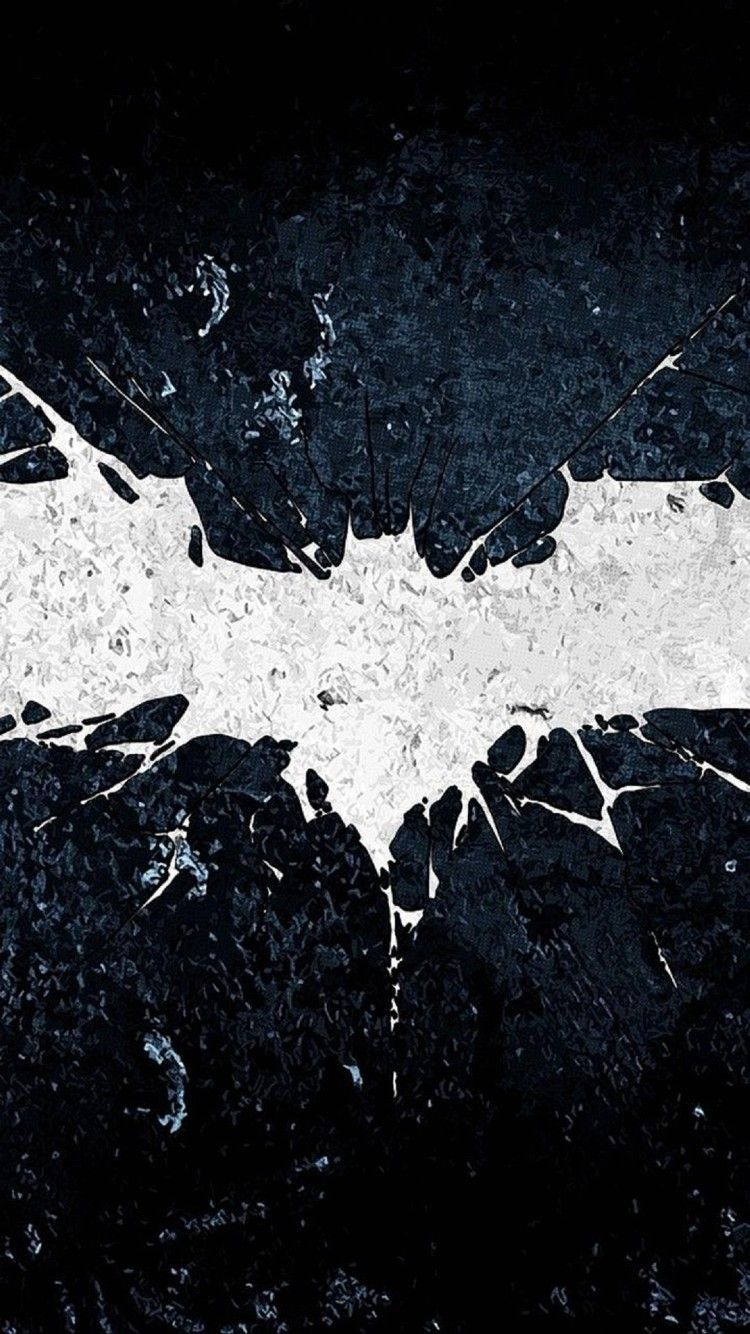 iPhone 7 Wallpapers Face of Batman in the apple iphone