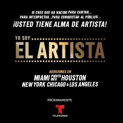 Yo Soy El Artista Casting Call In Miami Area Singing Competitions Casting Call Reality Show