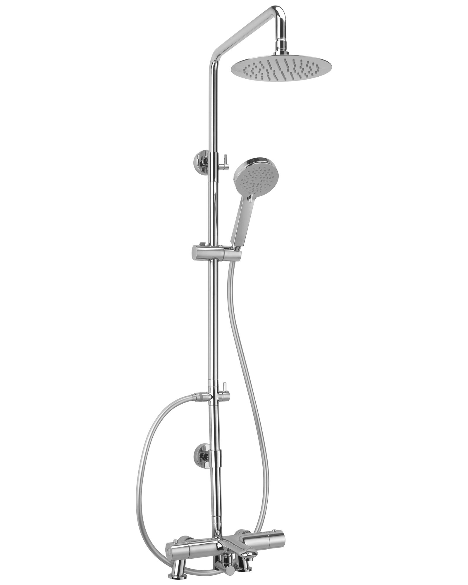 Sagittarius Logic Deck Mounted Bath Shower Mixer And Rigid Riser Kit