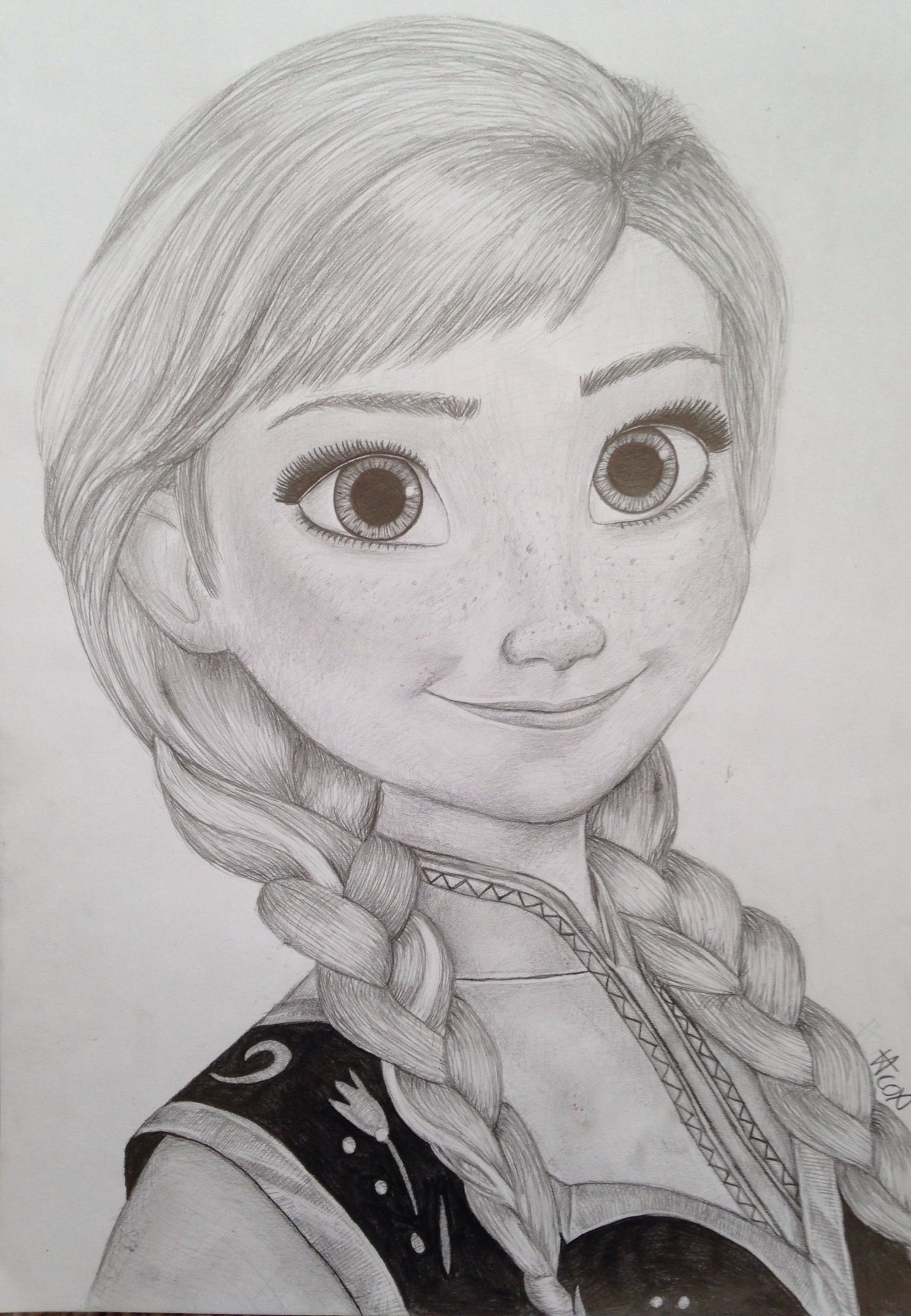 My Princess Anna Drawing From Frozen Disney Drawings Sketches Disney Princess Drawings Disney Art Drawings