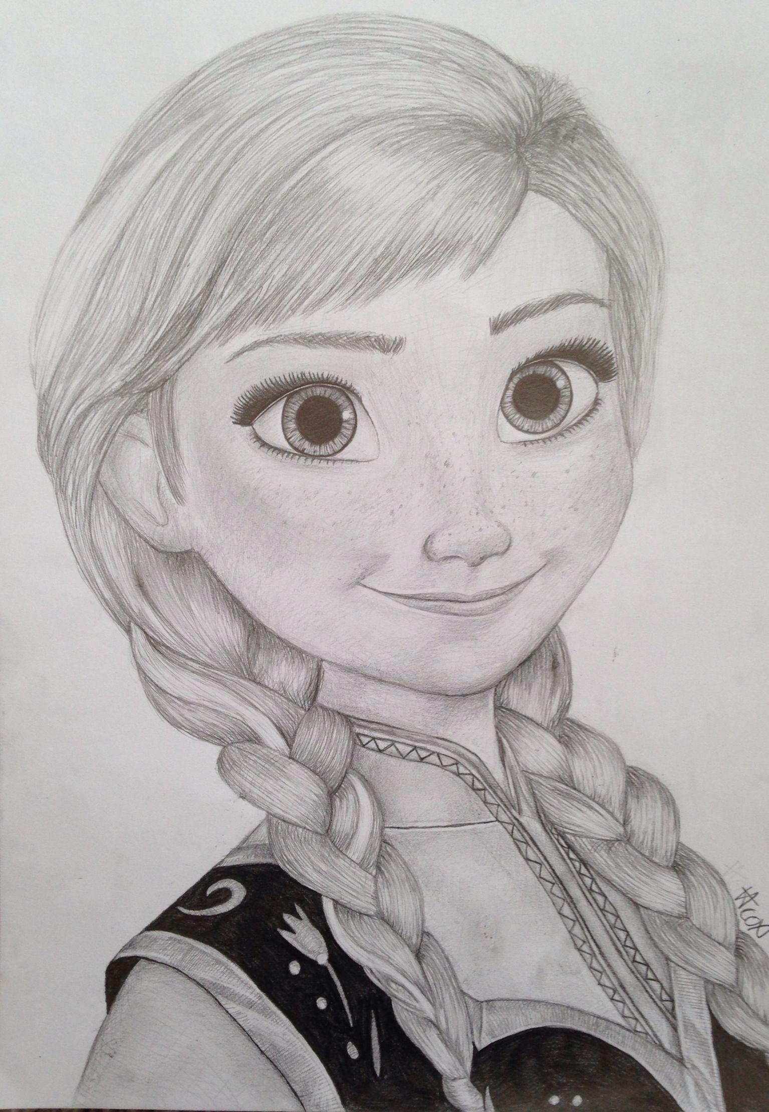 Princess Anna Drawing Frozen Art In 2019