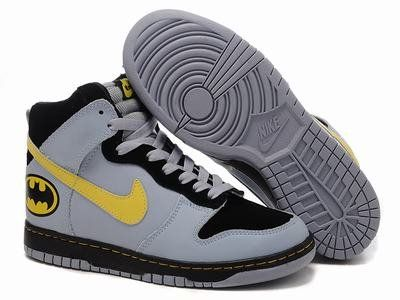 Nike SB Dunk High Golden Black Gray Batman Mens Sneaker